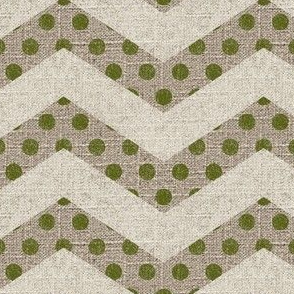 Dotted Chevron on Linen