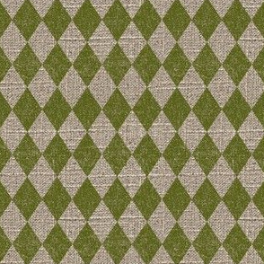 Diamonds in Moss on Linen
