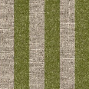 Moss Stripe on Linen