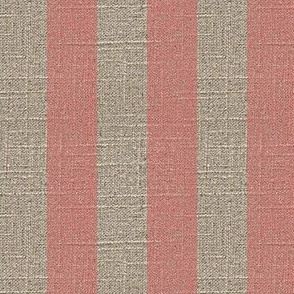Pink Stripe on Linen