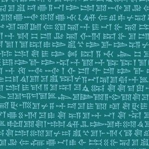 cuneiform in teal