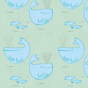 whales are blue