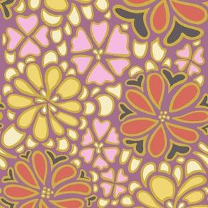 Bursting blossoms in plum