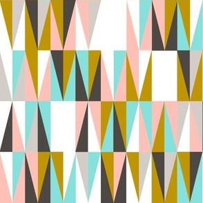 Harrah || atomic midcentury modern Las Vegas tile triangles geometric diamonds 50s 60s