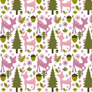 Girly Pink Deer Pattern