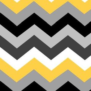 Black Yellow Chevron