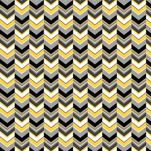 Altered chevron yellow gray black