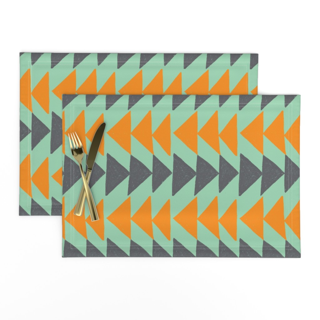 Lamona Cloth Placemats featuring Southwestern Flying Geese by kari_goodwin