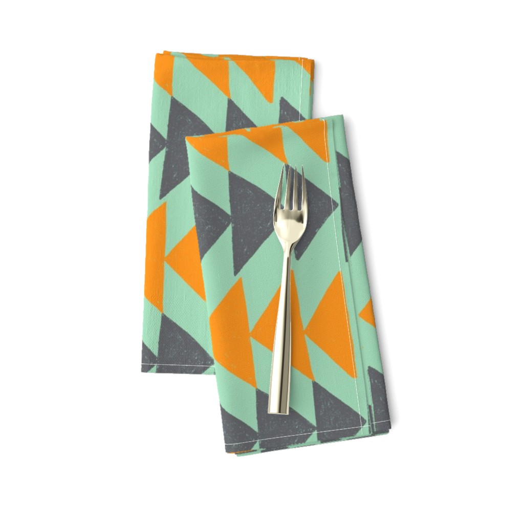 Amarela Dinner Napkins featuring Southwestern Flying Geese by kari_goodwin