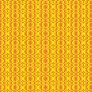 retro waves orange