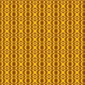 retro waves brown-yellow