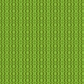 retro waves olive-green