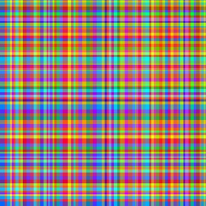 Rainbow Plaid - Pride Plaid - Multicolor Plaid
