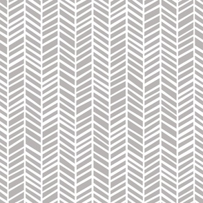 Herringbone Medium Dark Grey by Friztin
