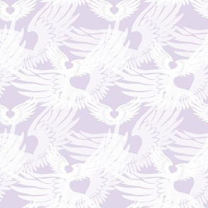 Heartwings II: Lavender and White (halfscale)