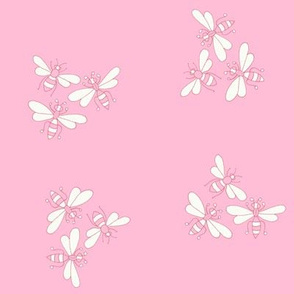 Flower Bees, Pink