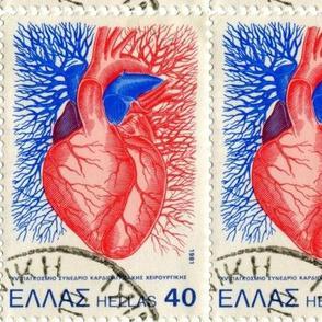 Human Heart Postage Stamp