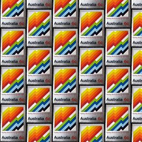 Australia Rainbow Stamp