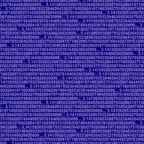 Pi digits purple and blue