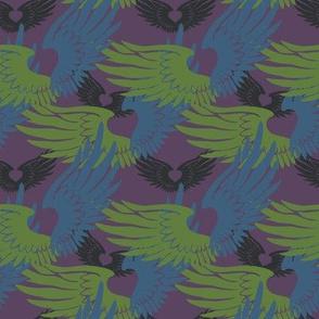 Heartwings II: Purple, Blue, Green2 (halfscale)