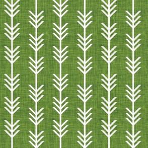 moss linen arrow stripes