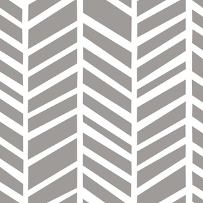 Herringbone Paloma Grey by Friztin