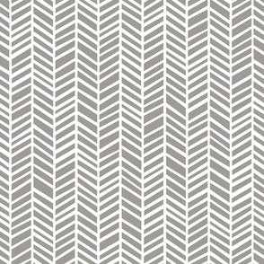 Herringbone Paloma Grey by Friztin