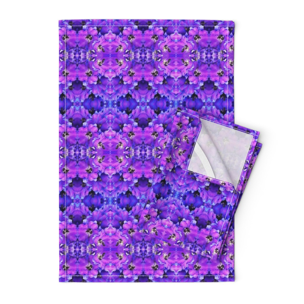 Orpington Tea Towels featuring flower_fields_7_a_intense_blue by susanprice