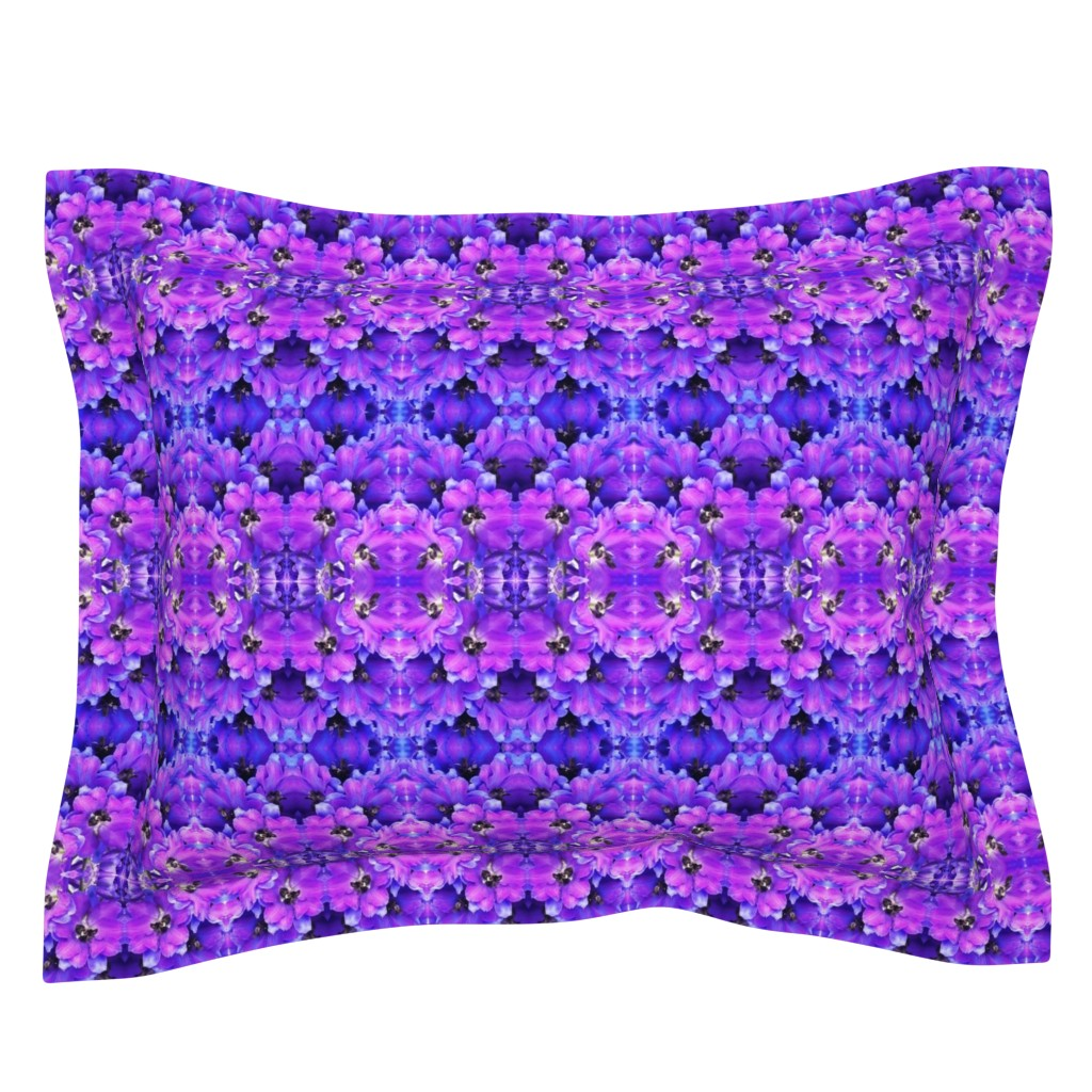 Sebright Pillow Sham featuring flower_fields_7_a_intense_blue by susanprice