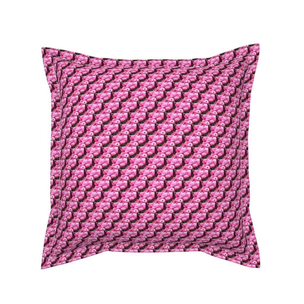 Serama Throw Pillow featuring flower_fields_10 by susanprice