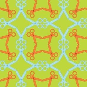 Rotating Orange/Blue Scissors