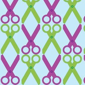 Purple/Green Scissors