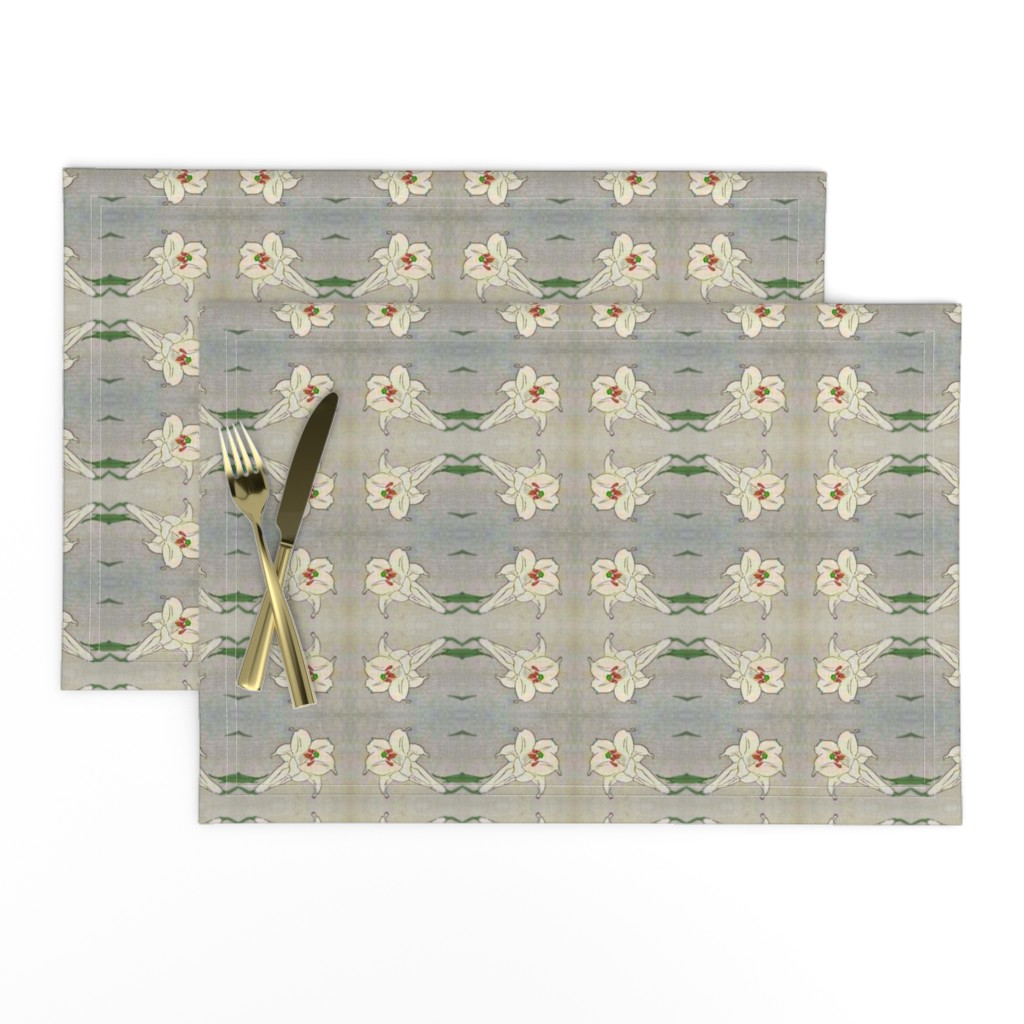 Lamona Cloth Placemats featuring Lily 7 by bananana