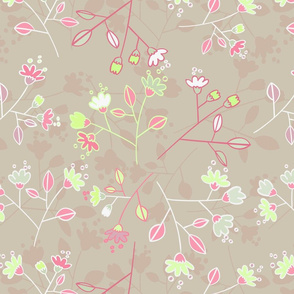 bege flower pattern