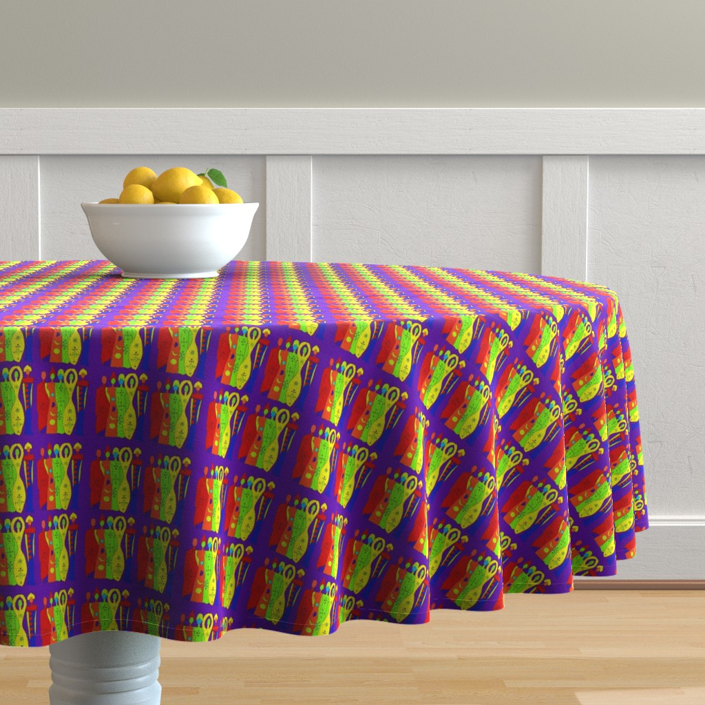 Malay Round Tablecloth featuring Ancestors by akua