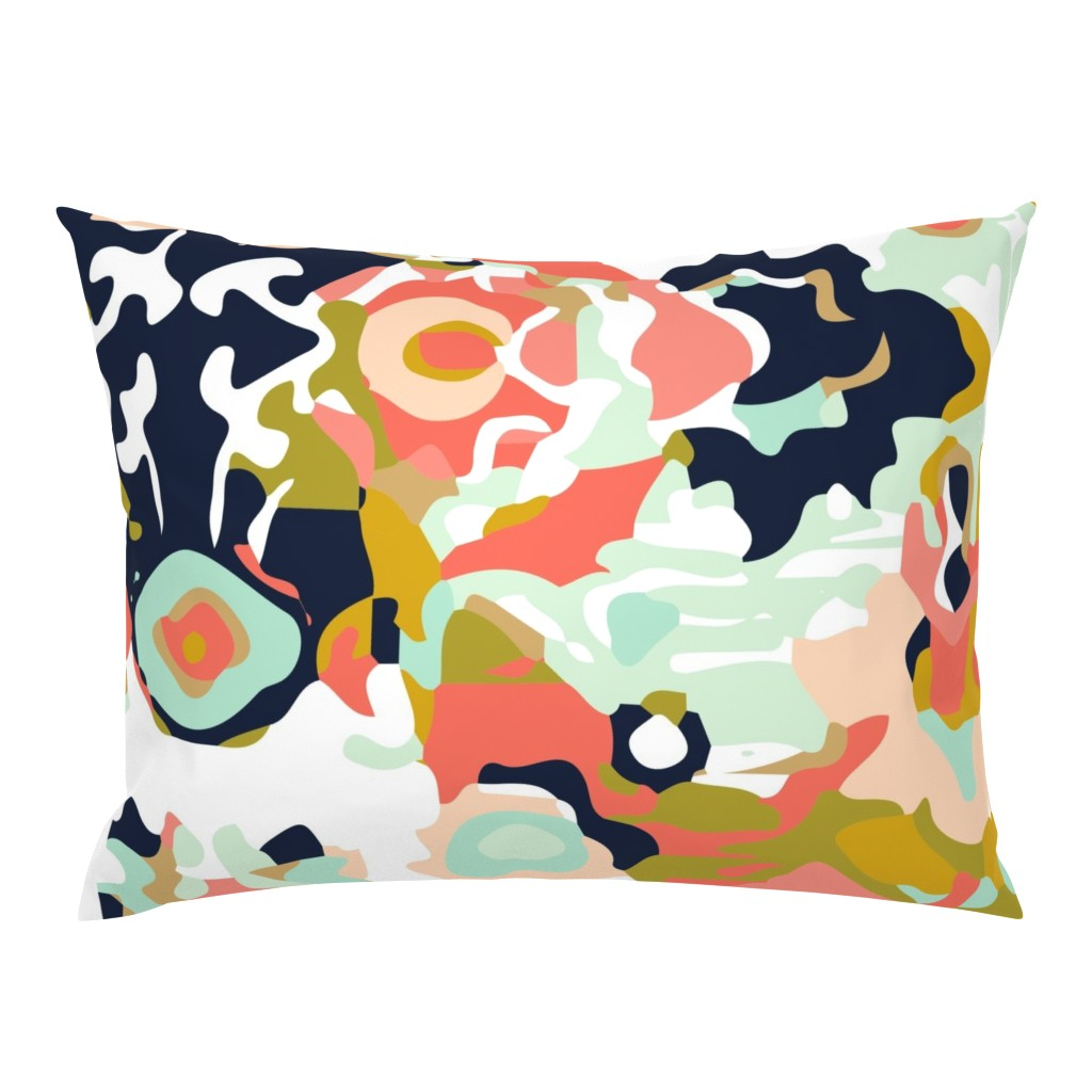 Campine Pillow Sham featuring coral jubilee by ivieclothco