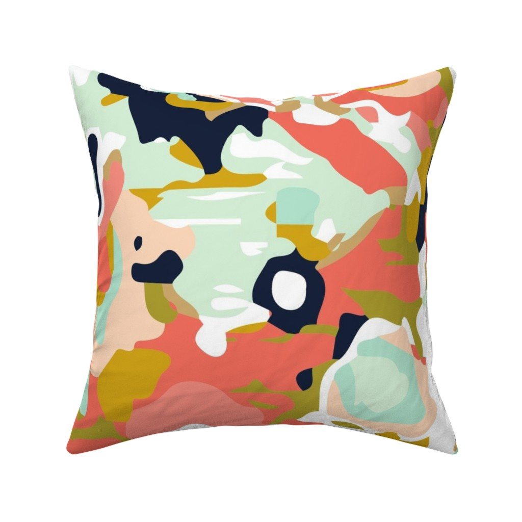 Catalan Throw Pillow featuring coral jubilee by ivieclothco