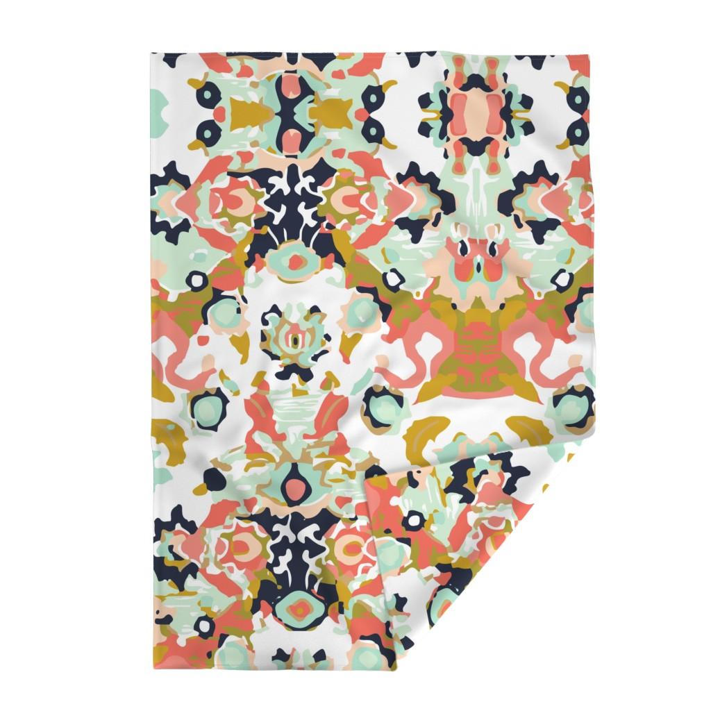 Lakenvelder Throw Blanket featuring coral jubilee by ivieclothco