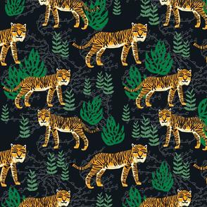 Safari Tiger - Turmeric/Kelly Green by Andrea Lauren