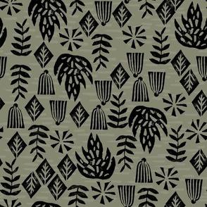 Safari Plants - Olive by Andrea Lauren