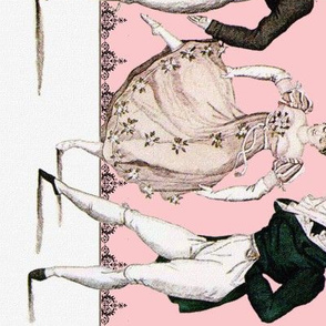 Pride and Prejudice ~ Counterdanse ~ Border Print ~ Dauphine