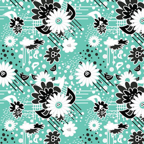 Floral Pow in Mint