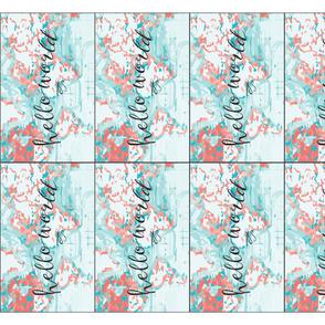hello world burp cloths + loveys // coral