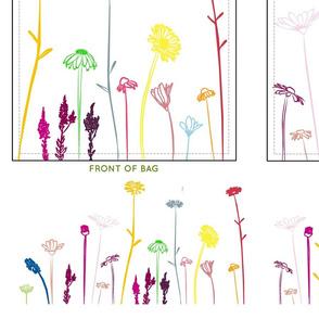 Wildflowers Grocery Bag Cut n Sew