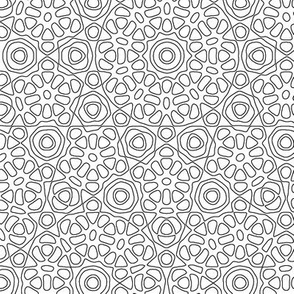 quasicrystal flower coloring page