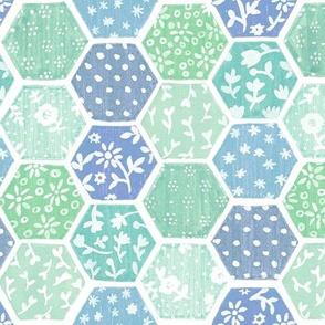 Cool Honeycomb Patchwork Quilt