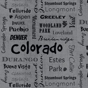 Cities of Colorado-grey