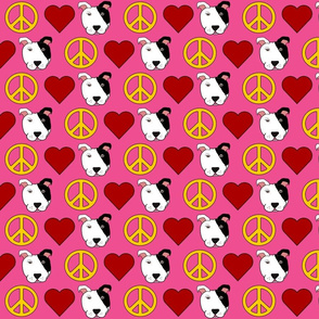 Pink Peace, Love, Pit Bulls