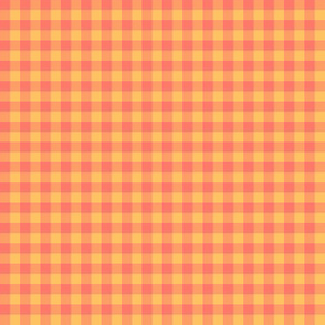 coral flame gingham