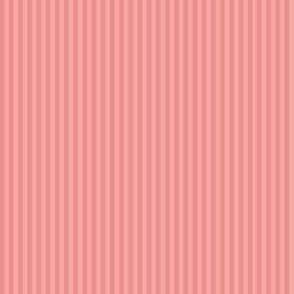 narrow stripes in sherbet pink
